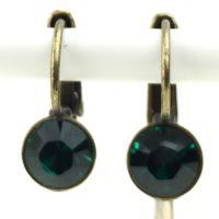 Konplott Black Jack Ohrhänger mit Klappverschluss in Emerald, dunkelgrün