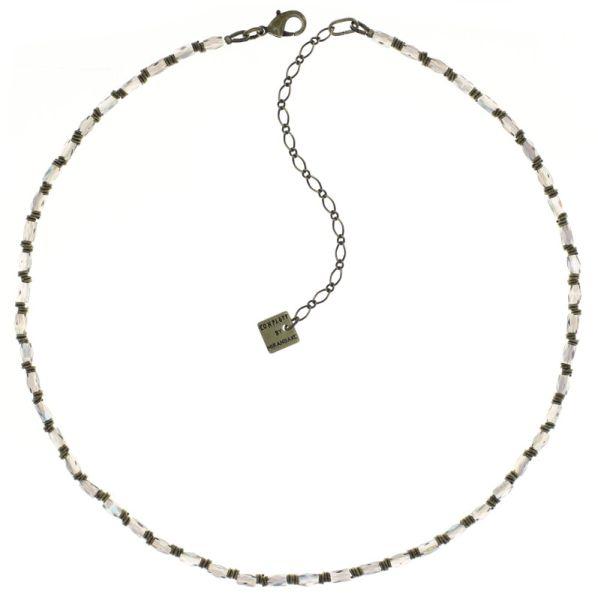 Night Sun Halskette mit Perlenausschnitt in grün/lila