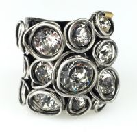 Sparkle Twist crystal Ring