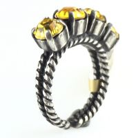 Colour Snake Ring in Light Topaz, gelb