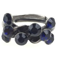 Konplott Magic Fireball 8 Stein Ring in dark indigo, dunkelblau