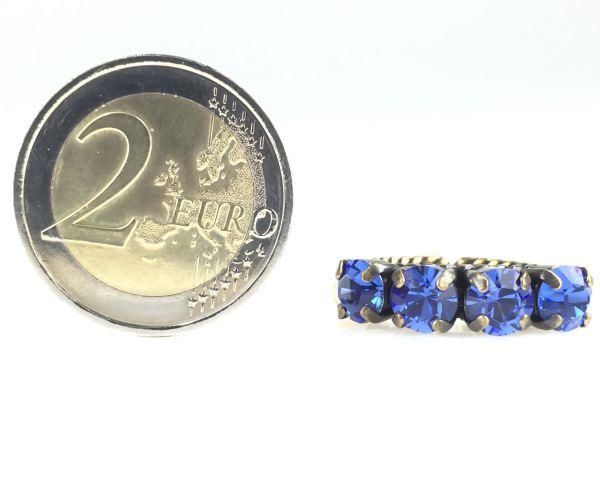 Konplott Colour Snake Ring in Sapphire, blau #5450527129091