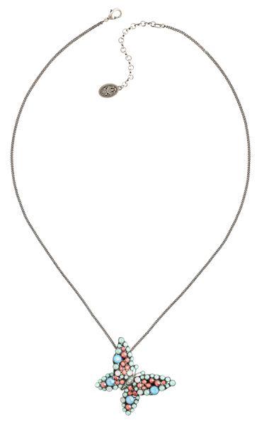Konplott Lost Garden Halskette lang mit Anhänger pastel multi, Schmetterling NUR NOCH KURZE ZEIT VERFÜGBAR #5450543652658