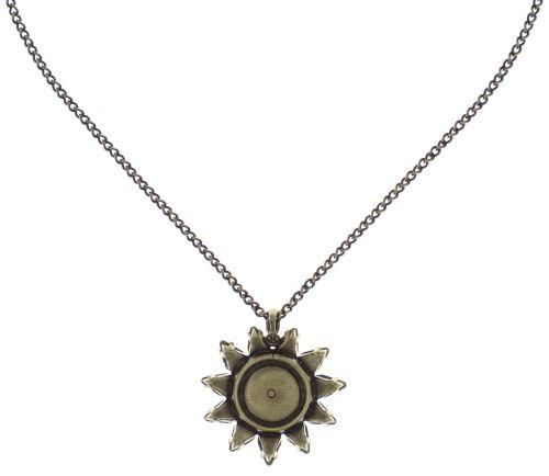 Konplott Sunflower Halskette mit Anhänger in gelb/weiß Größe L #5450543739120
