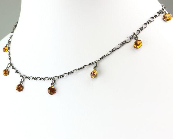 Konplott Tutui topaz Halskette steinbesetzt, gelb/braun #5450527641333