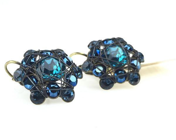 Konplott Bended Lights Ohrhänger mit Klappverschluss in Blau #5450527759380