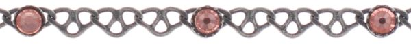 Konplott Festival Anklet Fußkette hell pink Silberfarben #5450543747385