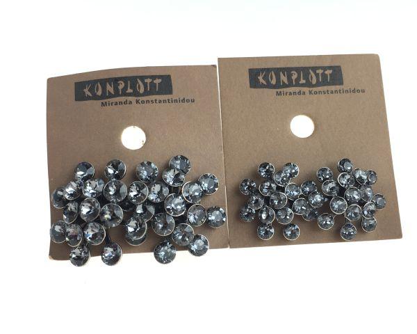 Konplott Magic Fireball grau crystal silver Ohrstecker klassisch mini #5450543656281