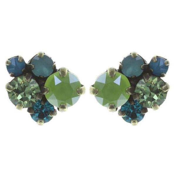 Konplott Ballroom Classic Glam Ohrstecker in blau/grün #5450543726687
