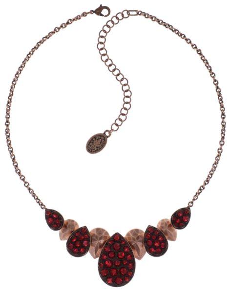 Konplott Tears of Joy steinbesetzte Halskette in coralline scarlet rot #5450543763545