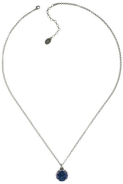 Konplott Medieval Pop Halskette lang mit Anhänger L Stein blau #5450543639512