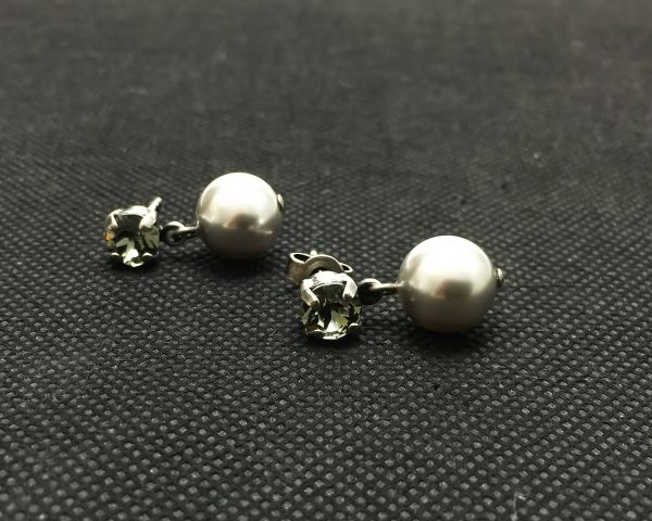 Konplott Pearl Shadow black diamond Ohrstecker hängend #5450527598866