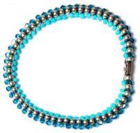 Konplott Bead Snakes elastisches Armband blau