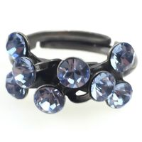 Magic Fireball 8 Stein Ring in light sapphire, hellblau