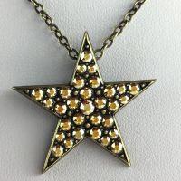 Konplott Dancing Star Halskette mit steinbesetztem Anhänger gold Stern #5450543622248