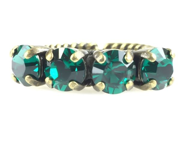 Konplott Colour Snake Ring in Emerald, dunkelgrün #5450527610063
