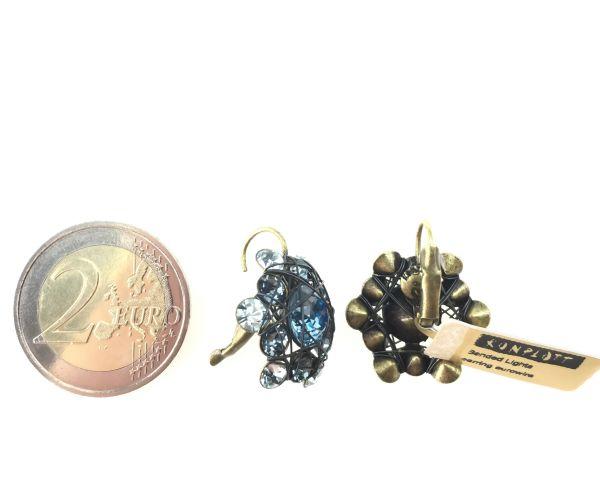 Konplott Bended Lights Ohrhänger mit Klappverschluss in Hellblau #5450527280280