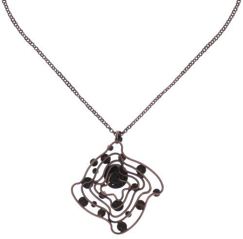 Konplott From Joanna with Love Halskette mit Anhänger kupfer, Steine blau/ braun #5450543700823