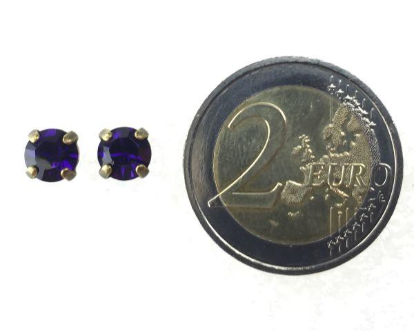 Konplott Black Jack Ohrstecker eckig in Purple Velvet, lila #5450527376013