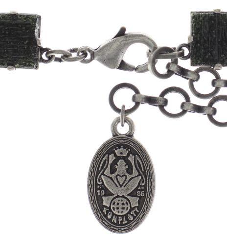 Konplott Cleo Halskette steinbesetzt in schwarz #5450543716145