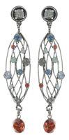 Konplott Cages Ohrhänger in pastel multi Silberfarben