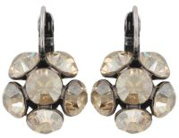 Konplott Disco Balls crystal golden shadow Ohrhänger mit Klappverschluss
