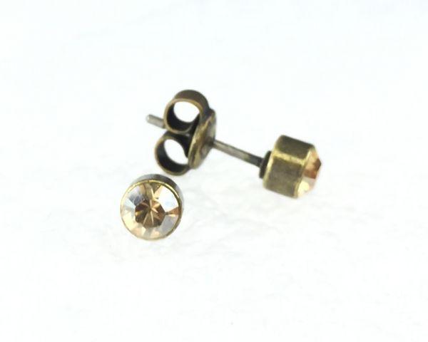 Konplott Black Jack Ohrstecker klein in kristall gold #5450527263573