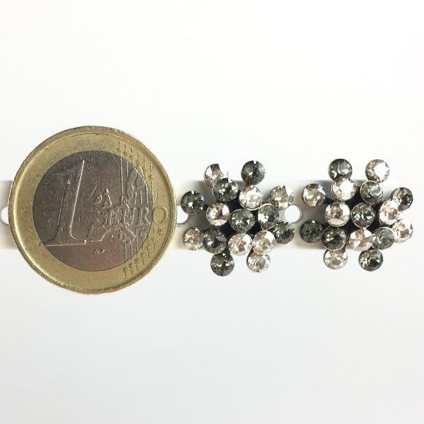 Konplott Magic Fireball weiß/graue Ohrstecker klassisch mini #5450543656267