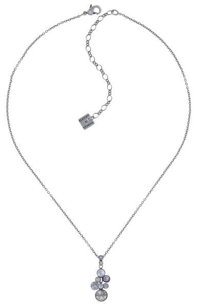 Water Cascade Halskette mit Anhänger in weiß