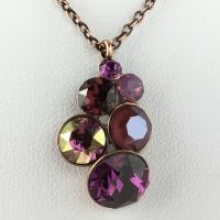 Konplott Petit Glamour lila Halskette mit Anhänger #5450543619538
