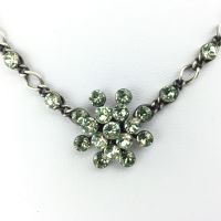 Konplott Magic Fireball Halskette steinbesetzt mit Anhänger in chrysolite, hellgrün