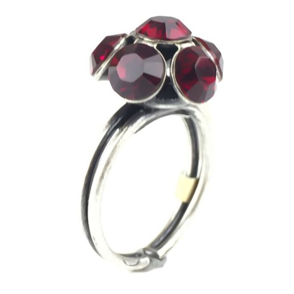 Konplott Disco Balls Ring in siam rot mit 1 Kugel #5450527610360
