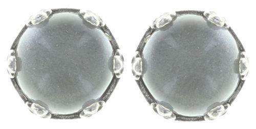 Jelly Star Ohrstecker klein in weiß, grau shimmer