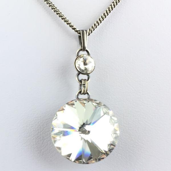 Konplott Rivoli crystal weiße Halskette lang mit Anhänger #5450527614276