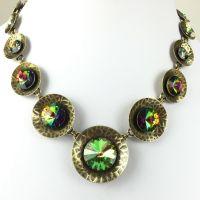 Konplott Rivoli Concave grün crystal vitral Collier #5450543334783