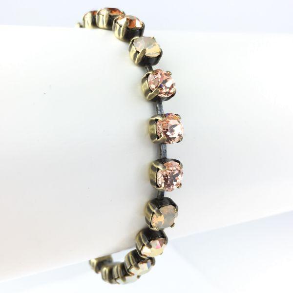 Konplott Colour Snake beige/braunes Armband verschließbar #5450543474724