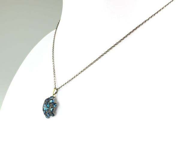 Konplott Bended Lights Halskette mit Anhänger in Blau #5450527758857