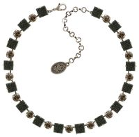 Konplott Cleo Halskette steinbesetzt in schwarz