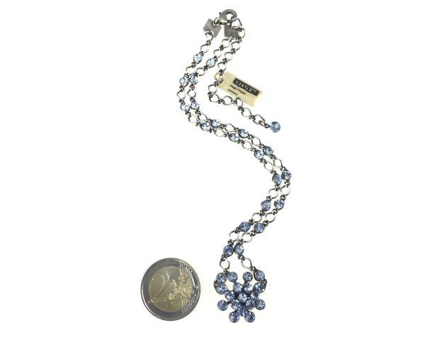 Konplott Magic Fireball Halskette steinbesetzt mit Anhänger in light sapphire, hellblau #5450527612005