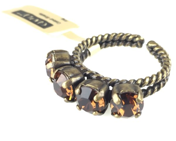 Konplott Colour Snake Ring in Smoked Topaz, braun #5450527256957