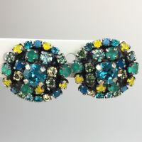 Konplott Ballroom Ohrstecker grün, blau, gelb #5450543485638