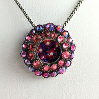 Konplott Inside Out pinke Halskette mit Anhänger klein #5450543638683