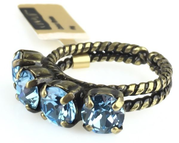 Konplott Colour Snake Ring in Aquamarine, hellblau #5450527257114