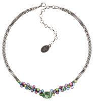 Konplott Caviar Treasure steinbesetzte Halskette in pastel multi