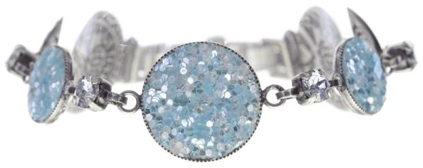 Konplott Studio 54 Armband in hellblau Silberfarben #5450543748375
