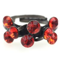 Magic Fireball 8 Stein Ring in hyacinth, rot/orange