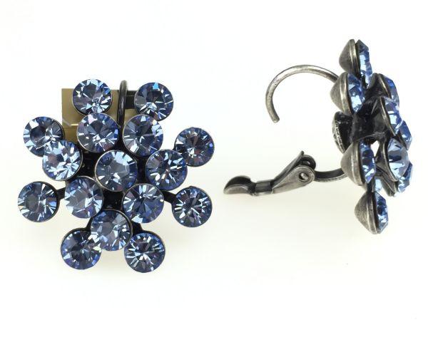 Konplott Magic Fireball Ohrhänger mit Klappverschluss in light sapphire, hellblau #5450527612036