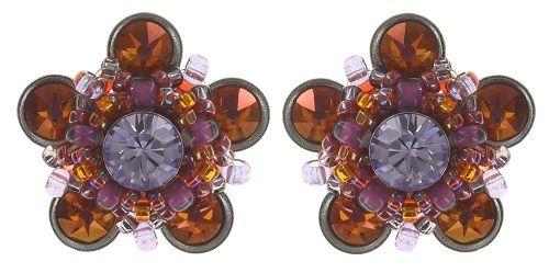 Konplott Apple Blossom Ohrstecker braun/orange, lila #5450543664484