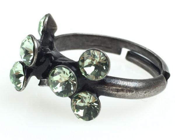 Konplott Magic Fireball 8 Stein Ring in chrysolite, hellgrün #5450527612135