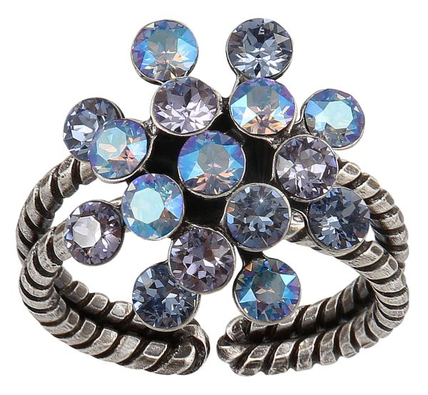 Magic Fireball Ring Mini in lila forget me not
